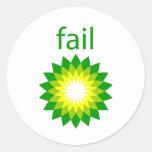 BP Oil Spill Fail Logo Sticker