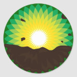 BP Oil Spill Round Sticker