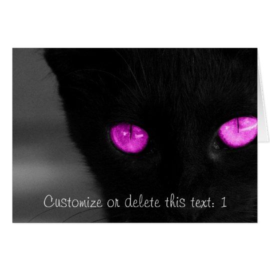 BPUR Black Cat Purple Eyes Card