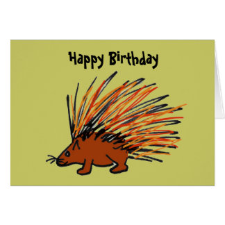 BQ- Funny Porcupine Birthday Card