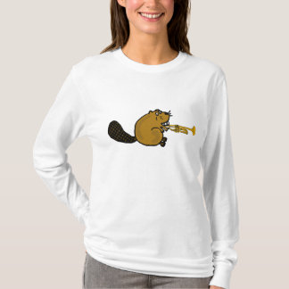BR- Beaver Playing the Trumpet Shirt