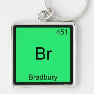 Br - Bradbury Funny Chemistry Element Symbol Tee Key Chain