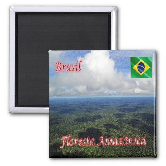BR - Brazil - Amazon Rainforest Square Magnet