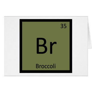 Br - Broccoli Vegetable Chemistry Periodic Table Card
