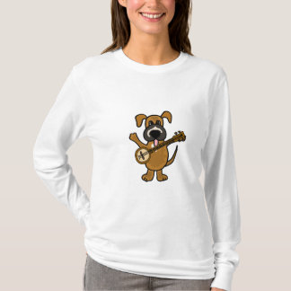 BR- Cute Puppy Dog Playing the Banjo T-Shirt