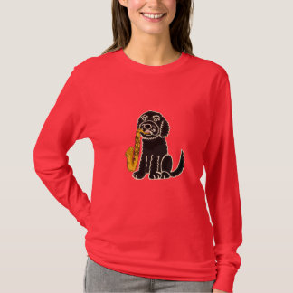 BR- Puppy Dog Playing the Saxophone Shirt