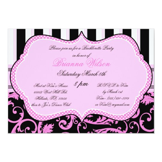 Bra and Panty Size Bachelorette Party Invitation