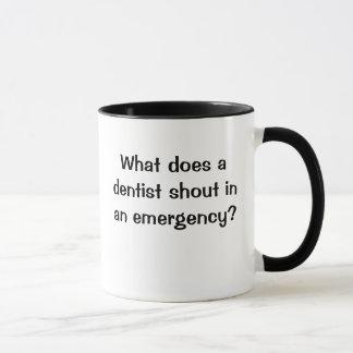 BRACE! BRACE! BRACE! Funny Dentist Emergency Joke Mug