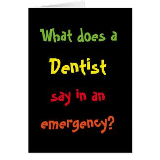 BRACE! BRACE! BRACE! Funny Dentist Joke Card