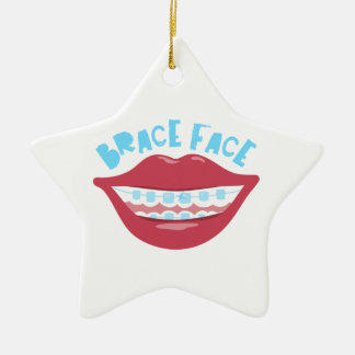 Brace Face Christmas Ornament