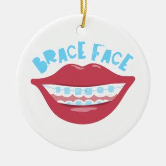 Brace Face Round Ceramic Decoration
