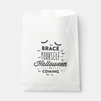 BRACE YOURSELF HALLOWEEN Halloween Favor Bag