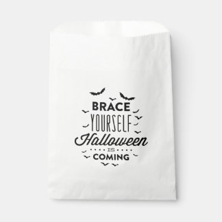 BRACE YOURSELF HALLOWEEN Halloween Favor Bag Favour Bags