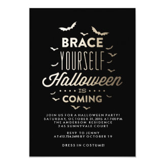 BRACE YOURSELF HALLOWEEN Halloween Party Invite