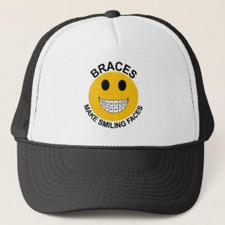 Braces Make Smiling Faces Cap / Truckers Hat