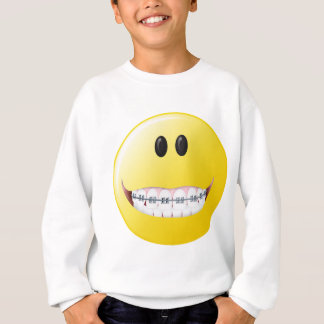 Braces Smiley Face Sweatshirt