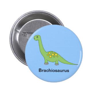 Brachiosaurus Dinosaur 6 Cm Round Badge