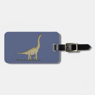 Brachiosaurus Luggage Tag