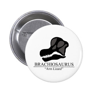 Brachiosaurus Skull 6 Cm Round Badge