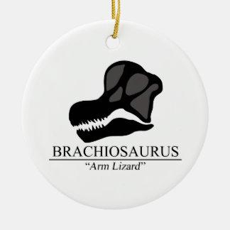 Brachiosaurus Skull Round Ceramic Decoration