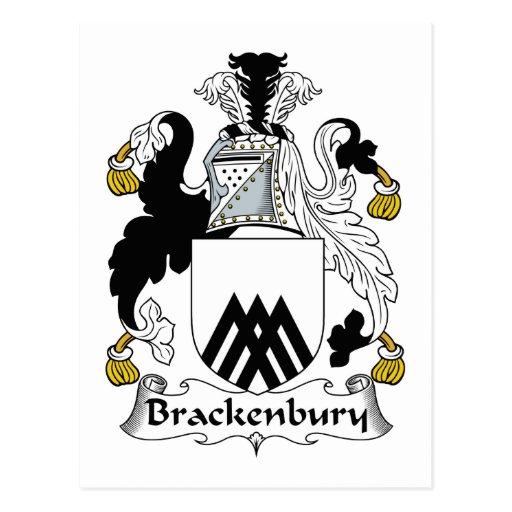 Brackenbury Family Crest Postcard