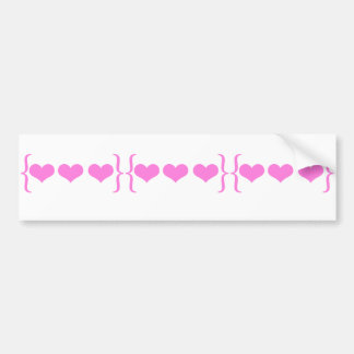Bracket Hearts Design Bumper Sticker