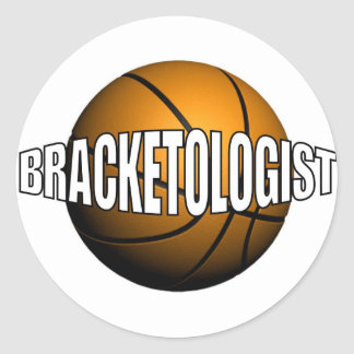 BRACKETOLOGIST ROUND STICKER