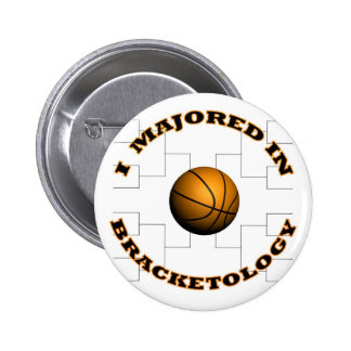 Bracketology 2 6 cm round badge