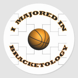 Bracketology 2 round sticker