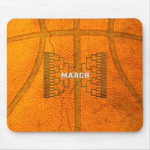 Bracketology March Basketball Tournament Mousepad