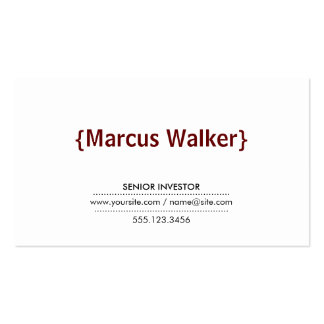 Brackets Crimson Red Pack Of Standard Business Cards