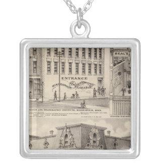 Brackett's Block, Minnesota Silver Plated Necklace