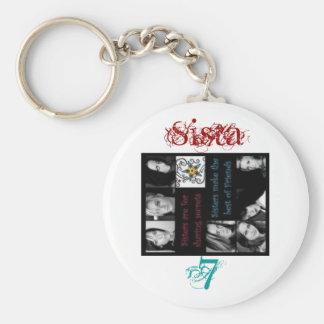 bracygirls, Sista, 7 Basic Round Button Key Ring
