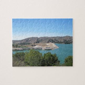 Bradbury Dam at Cachuma Lake Near Santa Ynez Jigsaw Puzzle