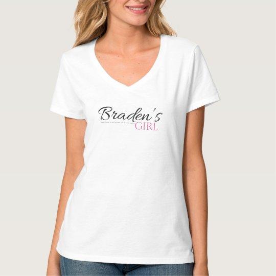 Braden's Girl V Neck Tshirt in Black and