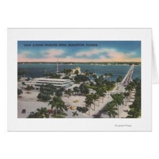 Bradenton, Florida - View Across Manatee River Card