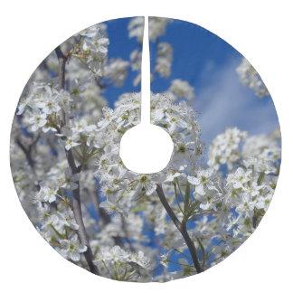 Bradford Pear Blooms Brushed Polyester Tree Skirt