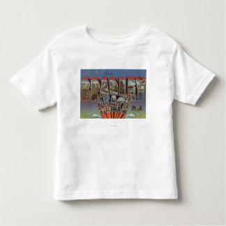 Bradley Beach, New Jersey - Large Letter Scenes Toddler T-Shirt