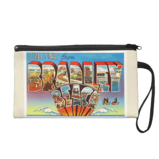 Bradley Beach New Jersey NJ Vintage Old Postcard- Wristlet Clutches