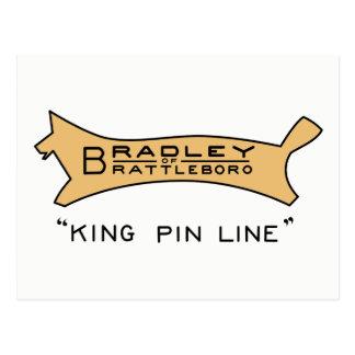 Bradley of Brattleboro King Pin Line Logo Postcard