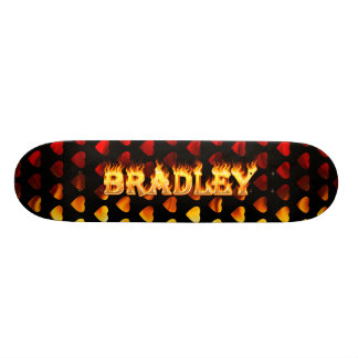 Bradley skateboard fire and flames design.