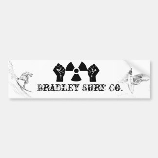 Bradley Surf Co. Car Bumper Sticker
