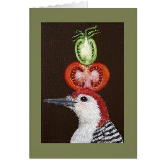 Bradley the woodpecker card