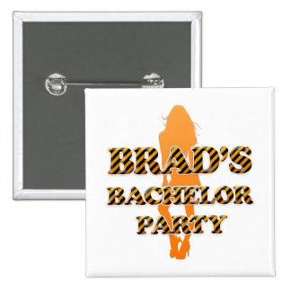 Brad's Bachelor Party Pinback Button