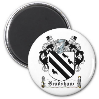 Bradshaw Family Crest 6 Cm Round Magnet