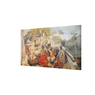 Bradshaw's defence of Manchester (1642) Canvas Print