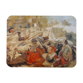 Bradshaw's defence of Manchester (1642) Rectangular Photo Magnet