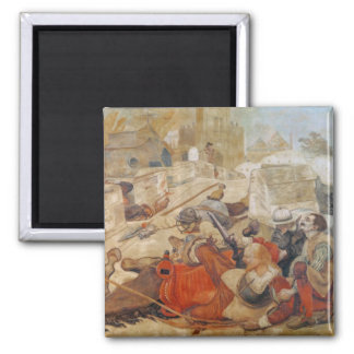 Bradshaw's defence of Manchester (1642) Square Magnet