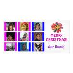 Brady Bunch Style Grid Birthday Christmas Card Photo Card Template