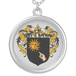 Brady Coat of Arms Silver Plated Necklace